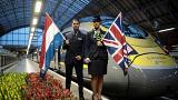 L'inaugurazione della nuova tratta Londra-Amsterdam di Eurostar