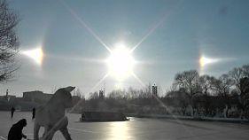 Watch: 'Three sun' phenomenon appears in China