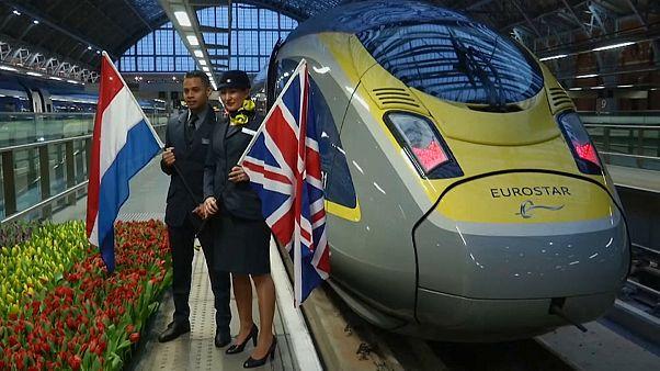 يوروستار تدشن أول خط للقطار من لندن إلى أمستردام
