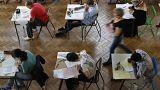 Studenten in einer Universität in Frankreich
