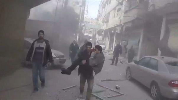 Ghouta debaixo de fogo pelo quarto dia consecutivo