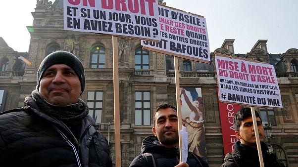 تظاهرات مدافعان حقوق پناهجویان در فرانسه
