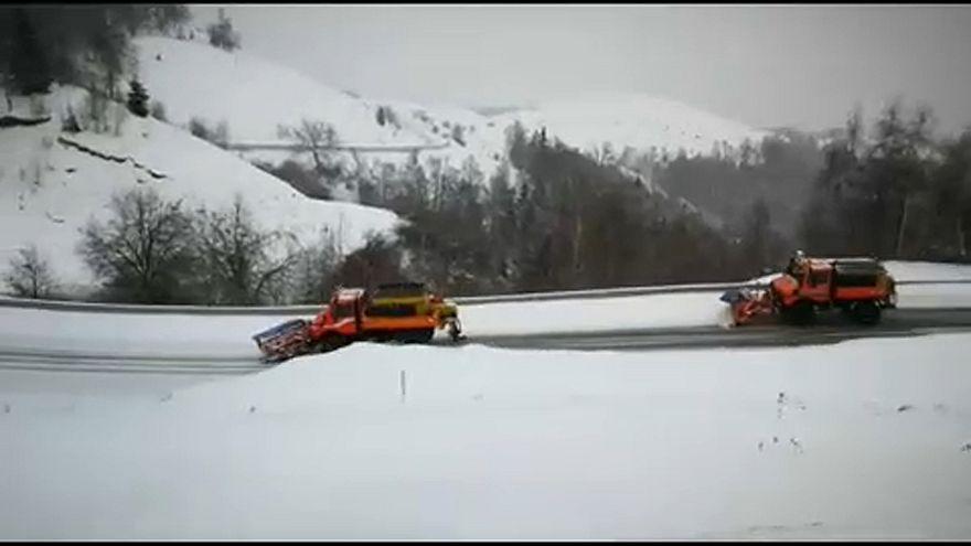 Bekeményített a tél Romániában és Horvátországban