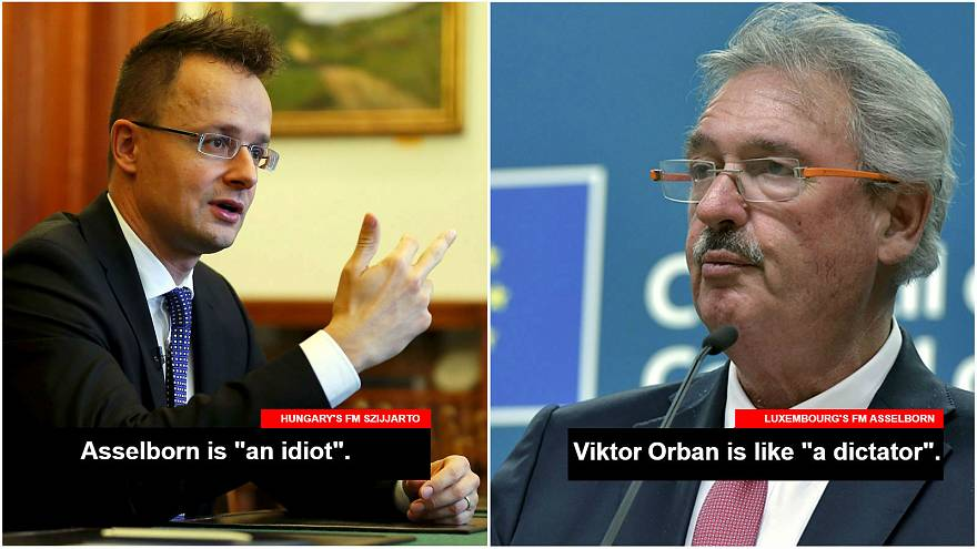 'You're an idiot': Hungary's foreign minister blasts Luxembourg counterpart