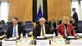Jean Claude Juncker, junto con Martin Selmayer y Clara Martínez