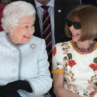 Queen Elizabeth II's first visit to the London Fashion Week