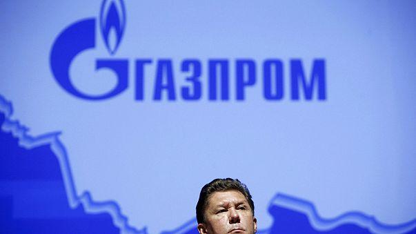 Alekszej Miller, a Gazprom vezetője egy 2015-ös sajtókonferencián