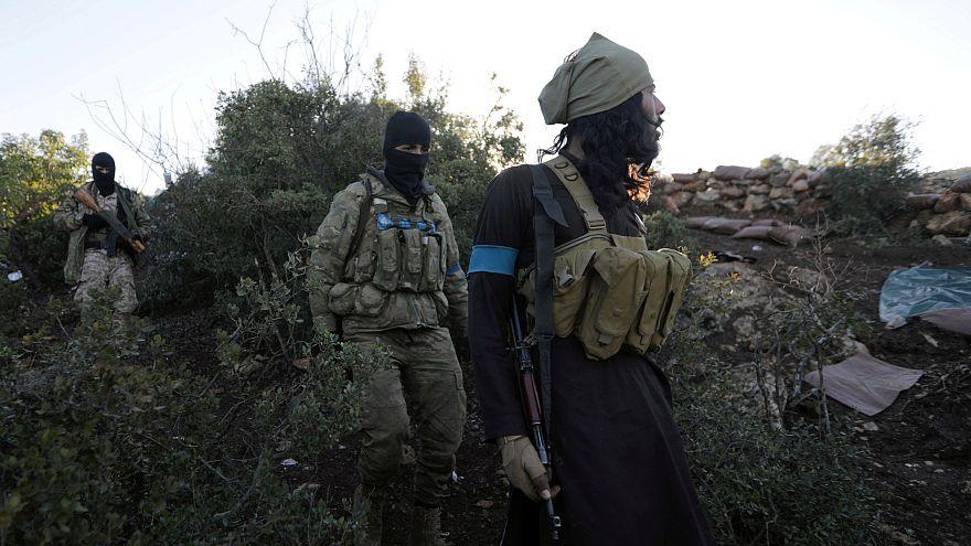 Kämpfer in der Nähe von Afrin