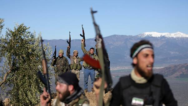 Free Syrian Army fighters near Afrin