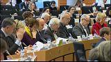 Voto durante la Comisión de Asuntos Exteriores en el Parlamento Europeo