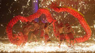 رقصة التنين في الصين