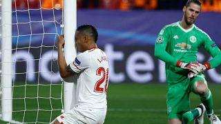 El Sevilla perdona ante el Manchester United de un gran De Gea
