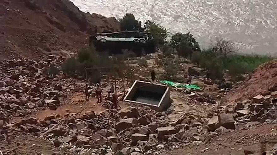 Dozens dead after Peru bus plunges into ravine