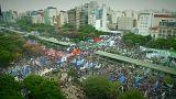 Manifestation des camionneurs argentins