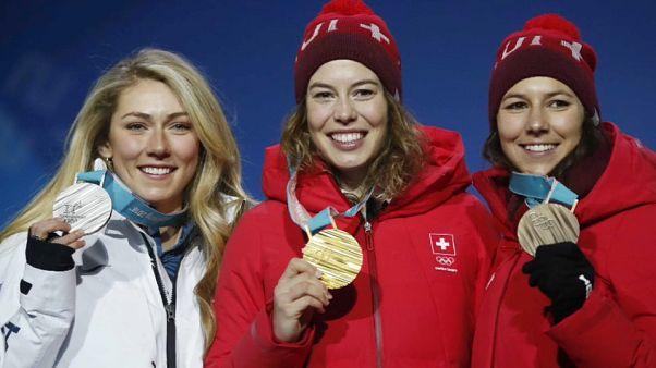 Suiza consigue el oro en combinada de esquí alpino