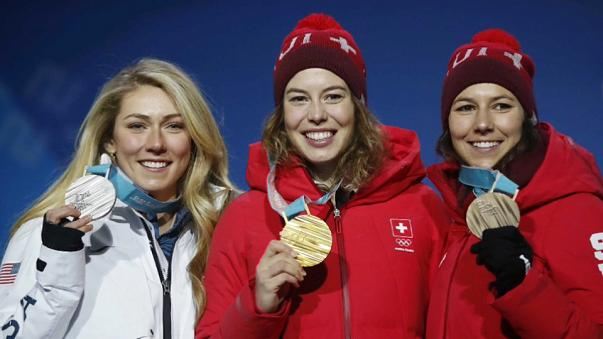 Michelle Gisin'in ilk Olimpiyat madalyası altın