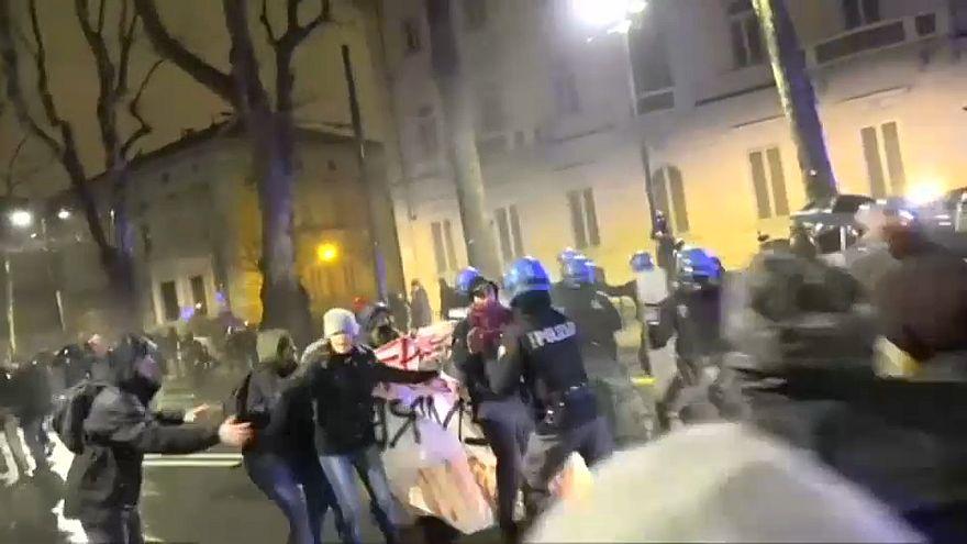 В Турине была разогнана манифестация антифашистов