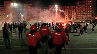 Spanish policeman dies in football violence