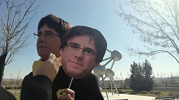 Joaquin Reyes, humoriste espagnol, en sosie de Puigdemont.