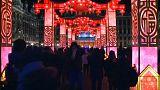 Des lanternes chinoises géantes dans le centre de Bruxelles