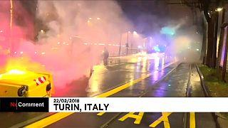 Gewalt bei Demonstration in Turin