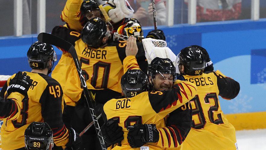 Eishockey: Deutschland steht nach Sieg über Kanada im Olympia-Finale