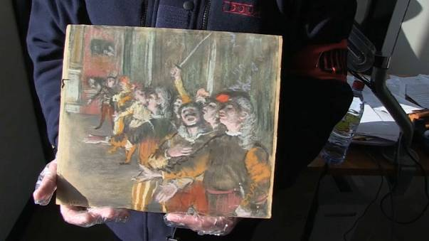 Stolen Degas painting left in suitcase on French bus