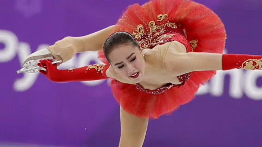 Téli olimpia: Alina Zagitova aranyérmes női műkorcsolyában