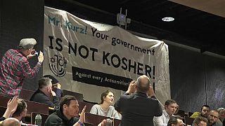 Críticas a Kurz en la conferencia contra el antisemitismo de Viena