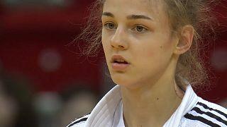 Daria Bilodid at the 2018 Dusseldorf Judo Grand Slam