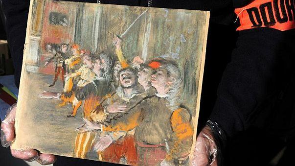 لوحة (الجوقة) للفنان الفرنسي إدجار ديجا