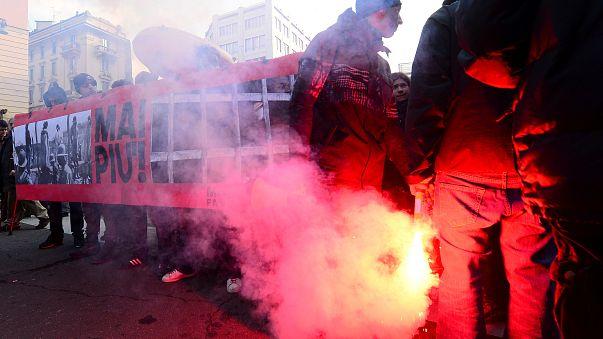 Cortei in varie città italiane, scontri a Milano tra manifestanti e polizia