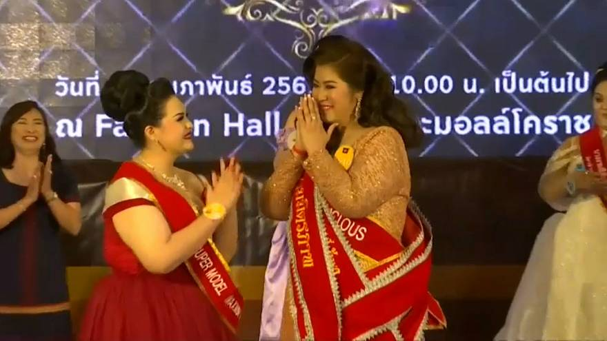 """شاهد: مسابقة """"ميس جامبو""""  لملكة جمال السمينات والمتحولين جنسيا  في تايلاند"""