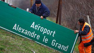 Un geste d'apaisement... aéroportuaire