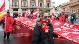 Левые и правые манифестации в Риме и Милане