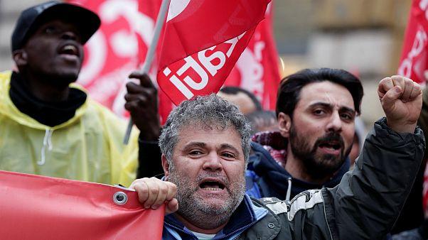 فعالان ضد فاشیست در پایتخت ایتالیا تظاهرات کردند