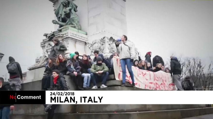 Demos gegen Rassismus in Italien