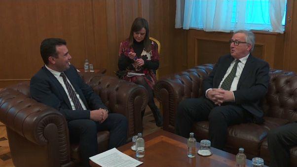 El presidente de la Comisión Europea de viaje en Macedonia