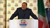 Mitin de Berlusconi en el último fin de semana de campaña en Italia