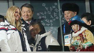Ivanka Trump  South Korean Moon Jae-in and Kim Yong Chol  North Korea