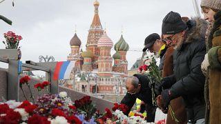 Rus muhalif lider Nemstov ölüm yıldönümünde anıldı