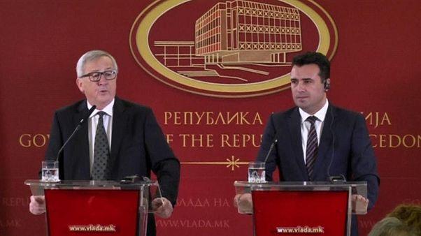 Juncker'den Makedonya'ya: İsim anlaşmazlığını çözün