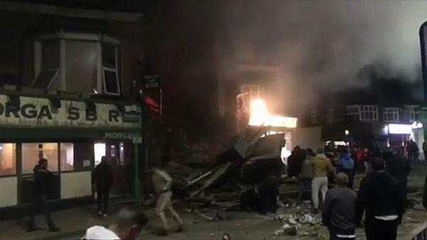 Κατάρρευση κτιρίου από έκρηξη στο Λέστερ