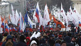 هزاران نفر در سالگرد قتل بوریس نمتسوف خواستار خروج پوتین از قدرت شدند