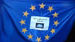 A korrupció ellen tüntettek Romániában
