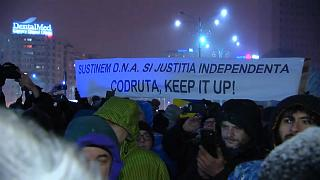 Romanians protest and call on Europe to protect them from corruption