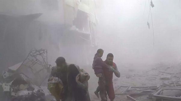 Bombardeos sin tregua sobre Guta Oriental