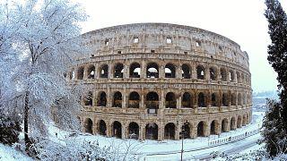 Vague de froid : Rome prend des airs de paradis blanc