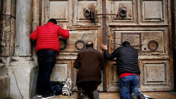 Kudüs: Kıyamet Kilisesi İsrail'in kararına tepki amacıyla kapatıldı