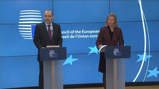 Feferica Mogherini meeting with Ayaman Safa arab foreign ministers brussels